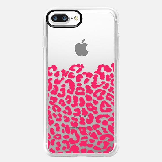 Wild Hot Pink Leopard Transparent -