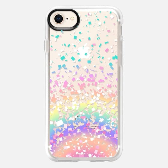 Pastel Rainbow Confetti Explosion Transparent - Snap Case