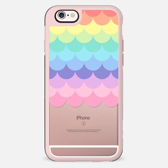 Pastel Rainbow Scales Transparent  - New Standard Case