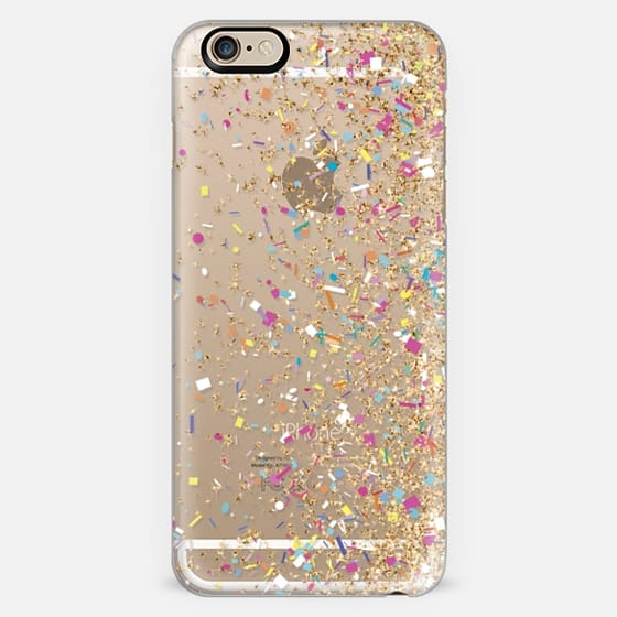 Gold Multicolor Confetti Burst -