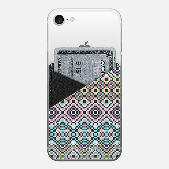 Faraway Geometric Dream III - Saffiano Leather Phone Wallet