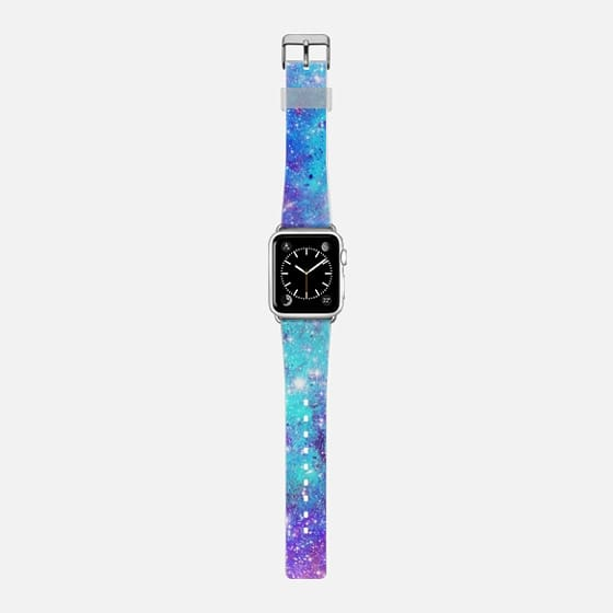 Turquoise Lilac Galaxy Stars -