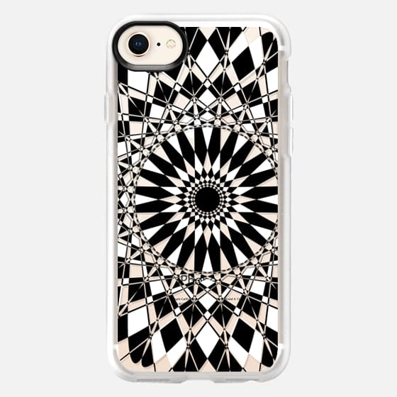 Black and White Feather Star Transparent - Snap Case