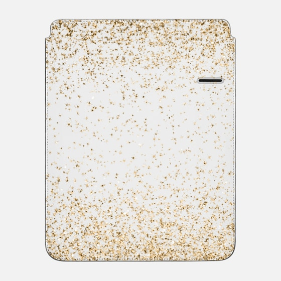 "iPad Pro 12.9"" Sleeve - Gold Sparkly Glitter Burst"