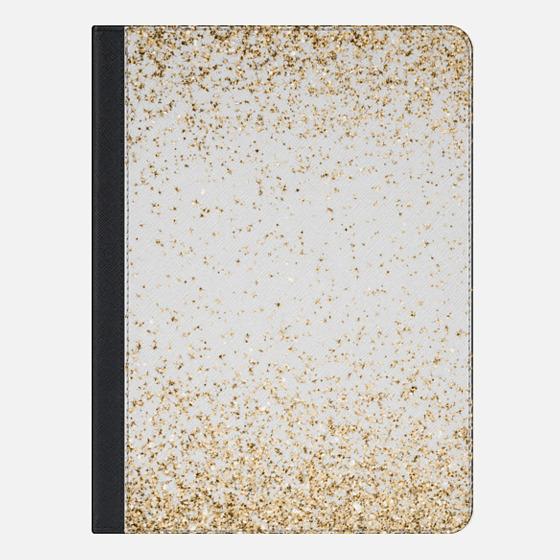 """iPad Pro 9.7"""" Case - Gold Sparkly Glitter Burst"""