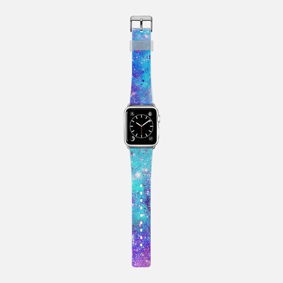 Turquoise Lilac Galaxy Stars -