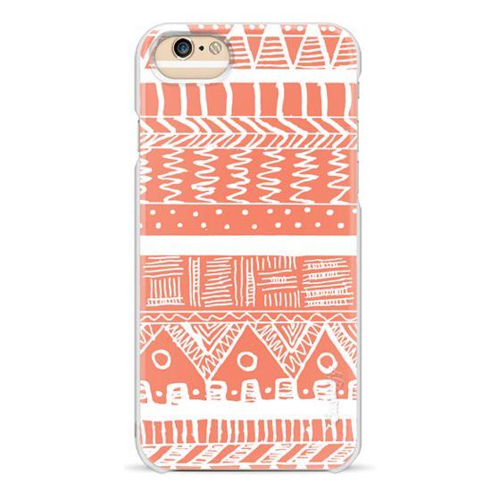 iPhone 6 Cases - Boho Coral Aztec