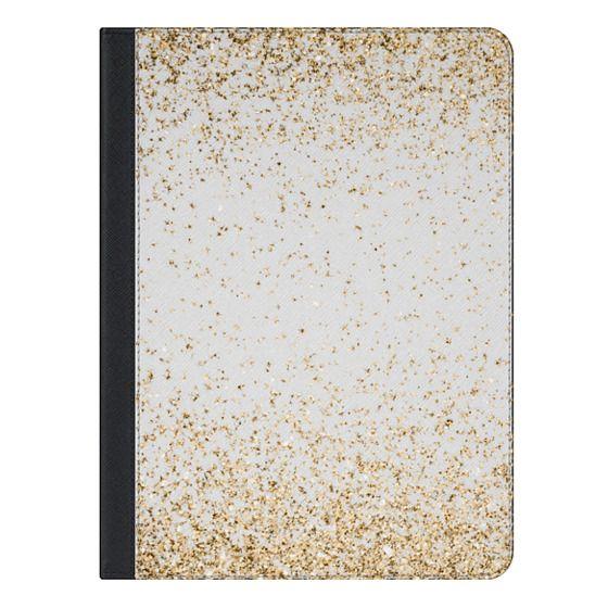 iPad Air 2 ケース - Gold Sparkly Glitter Burst