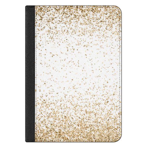 iPad Mini 1/2/3 Case - Gold Sparkly Glitter Burst