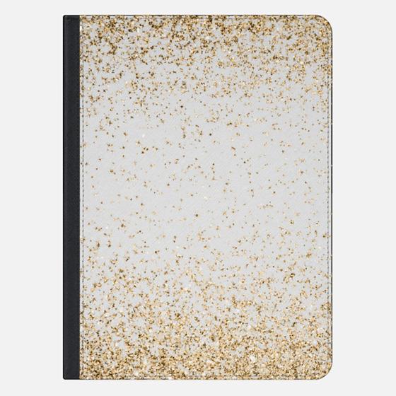 "iPad Pro 12.9"" ケース - Gold Sparkly Glitter Burst"