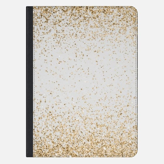 Gold Sparkly Glitter Burst  - iPad Pro Sleeve