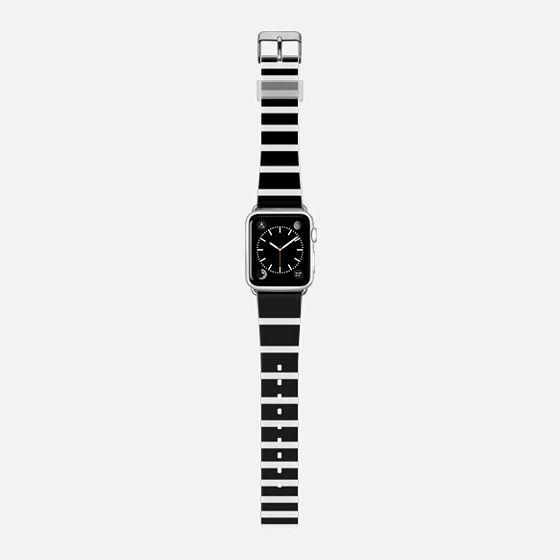 White Black Ombre Stripes -