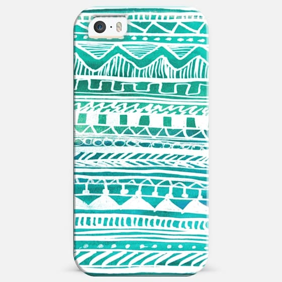 Turquoise Aztec Pattern -