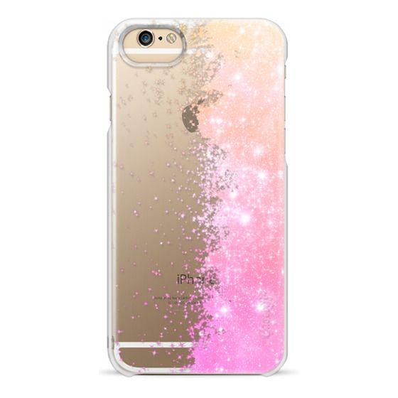 iPhone 6s Cases - Tangerine Pink Galaxy Stars Burst