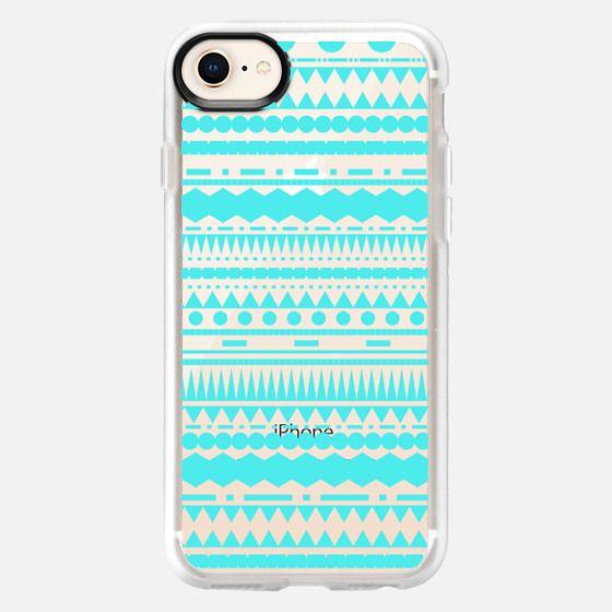 Turquoise Modern Aztec Transparent  - Snap Case