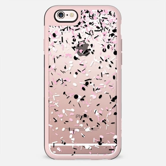 Light Pink Black and White Confetti Explosion