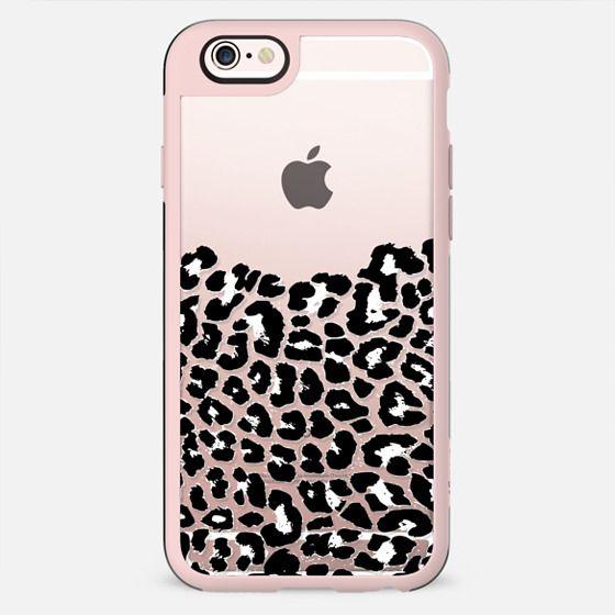 Wild Black and White Leopard Transparent