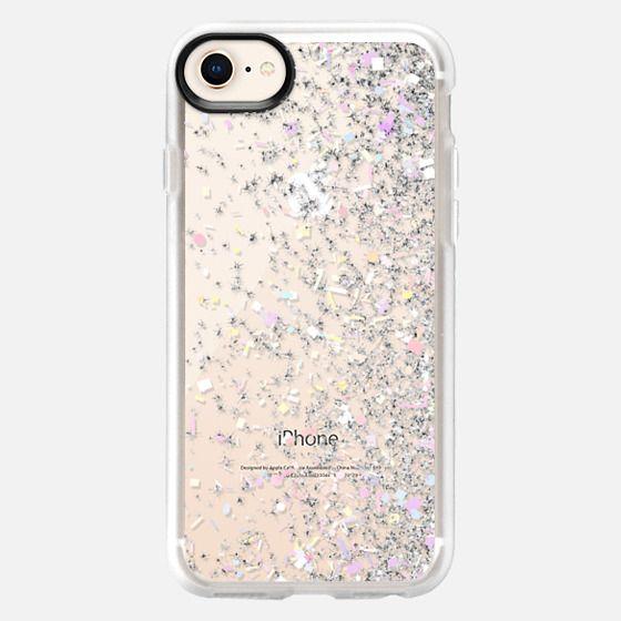Silver Pastel Confetti Burst - Snap Case