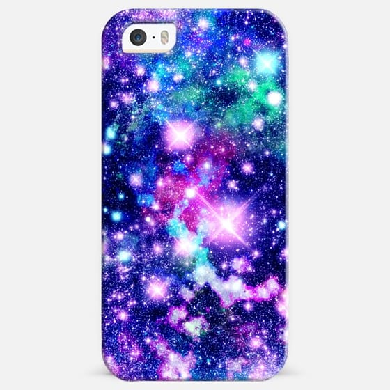 Pink and Purple Galaxy Stars - Classic Snap Case
