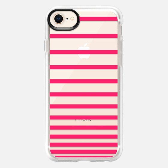 Pink Ombre Stripes Transparent  - Snap Case