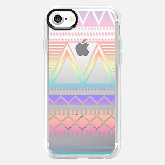 Cotton Candy Rainbow Tribal Transparent  - Classic Grip Case