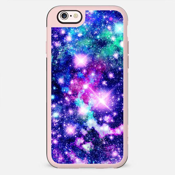 Pink and Purple Galaxy Stars