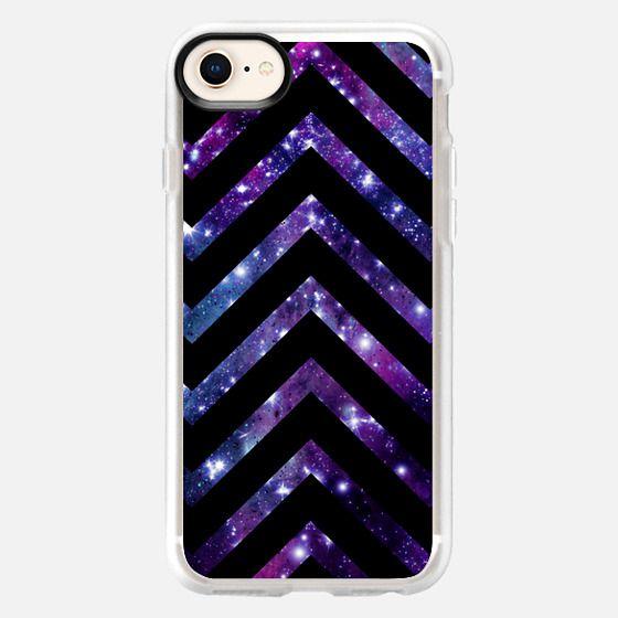 Galaxy Black Chevron  - Snap Case