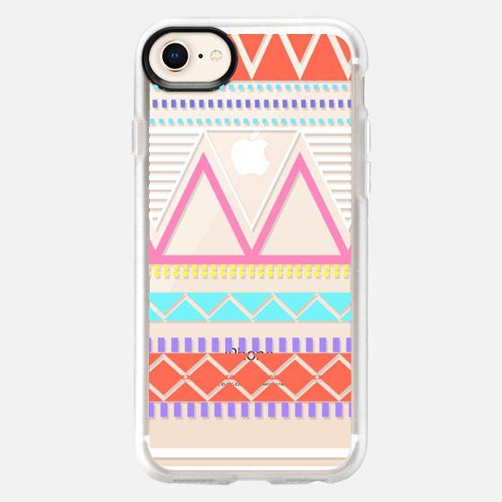Bright Pastel Tribal Transparent  - Snap Case
