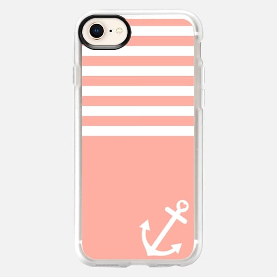 Coral Love Anchor Nautical - Snap Case