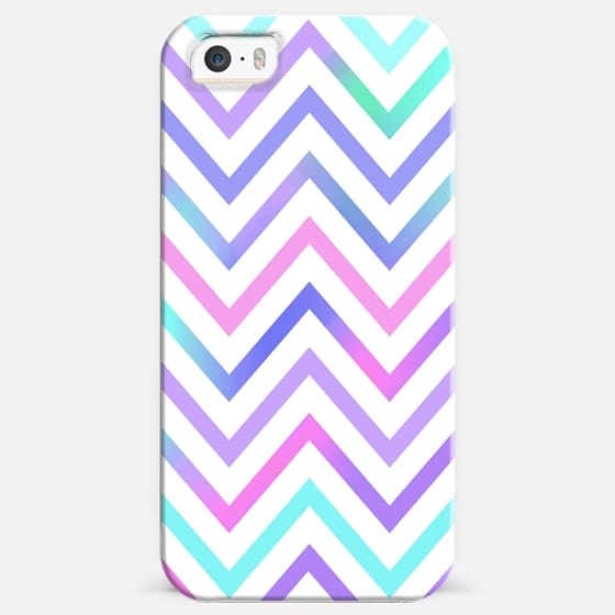 Pastel White Chevron -