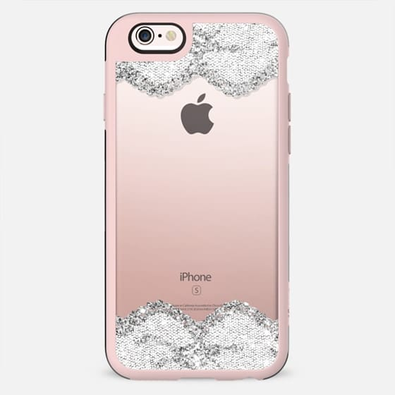 Double Faux Silver and White Romantic Lace  - New Standard Case