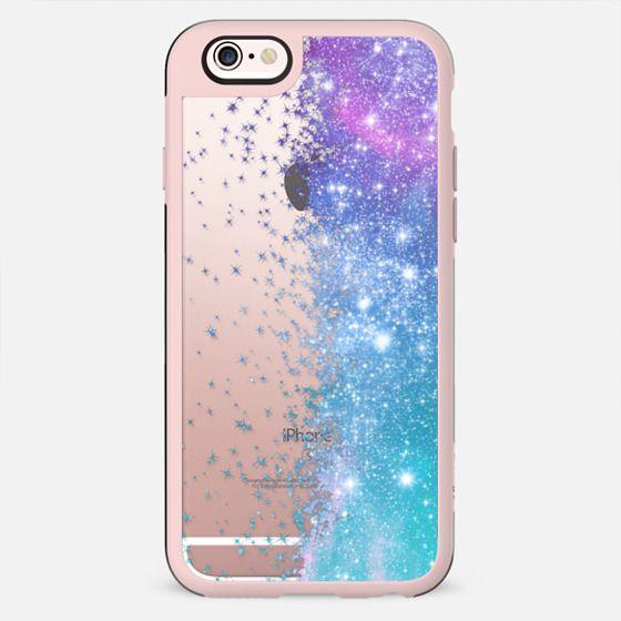 Lilac Teal Galaxy Stars Burst