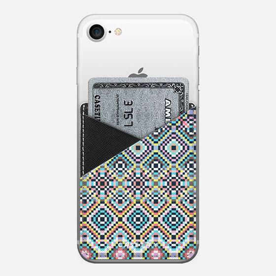 Faraway Geometric Dream IV - Saffiano Leather Phone Wallet