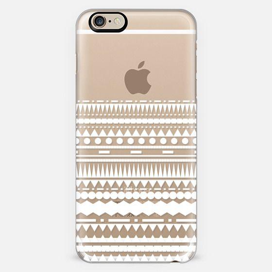 White Modern Aztec Partial Transparent  -