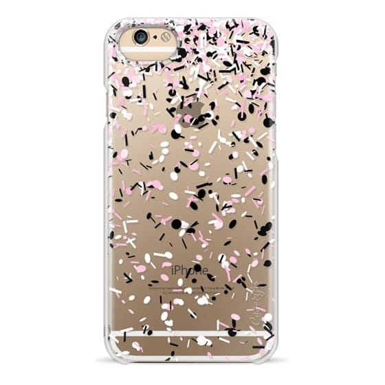 iPhone 6s Cases - Light Pink Black and White Confetti Explosion