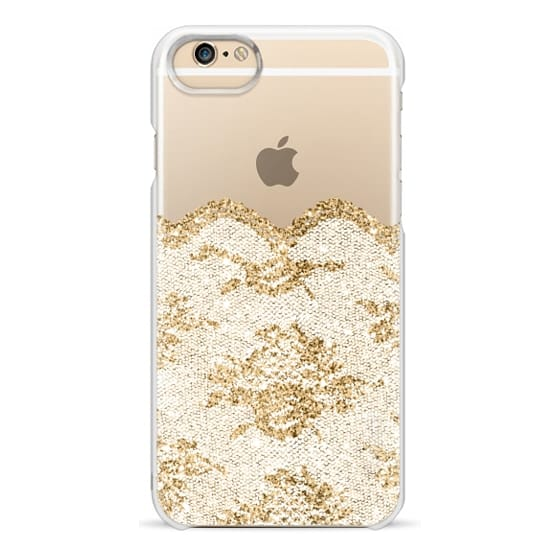 iPhone 6s Cases - Faux Gold and White Romantic Lace