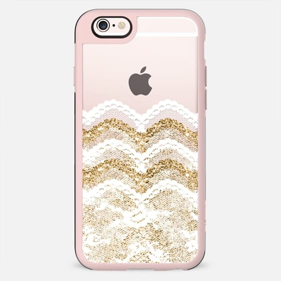 White and Gold Lace Layers  - New Standard Case