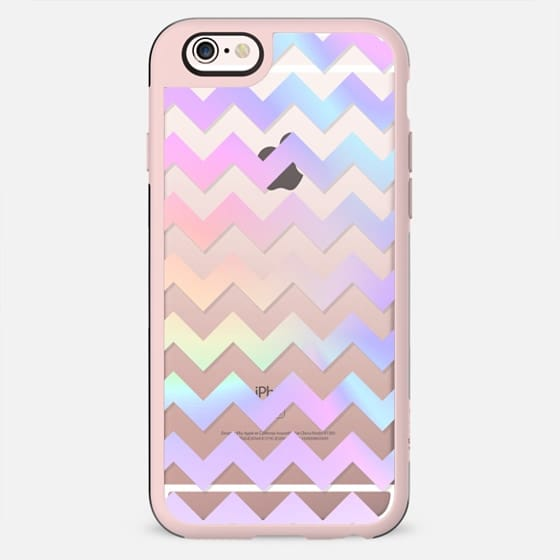 Pastel Rainbow Chevron Transparent