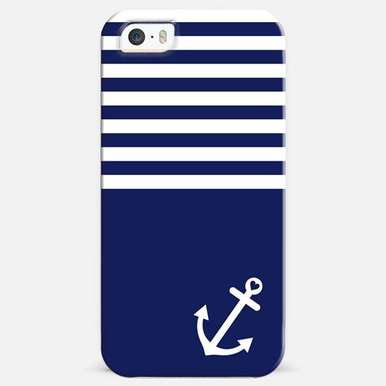 Navy Blue Love Anchor Nautical -