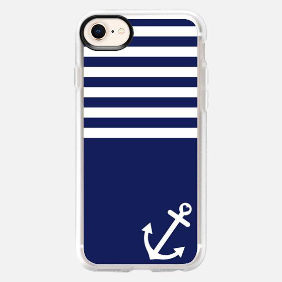 Navy Blue Love Anchor Nautical - Snap Case