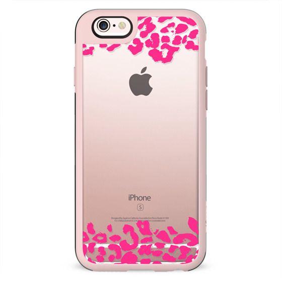 Wild Double Hot Pink Leopard Transparent