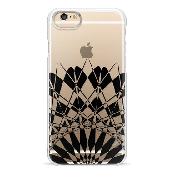 iPhone 6 Cases - Black Half Feather Star Transparent