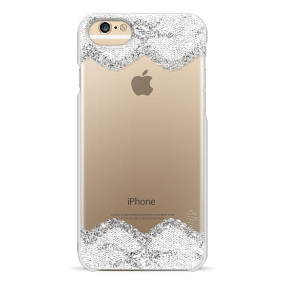 iPhone 6s Cases - Double Faux Silver and White Romantic Lace