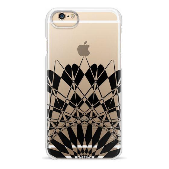 iPhone 6 Cases - Black Half Feather Star Transparent