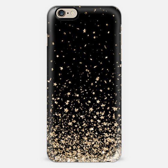 Black and Gold Stars Rain  -