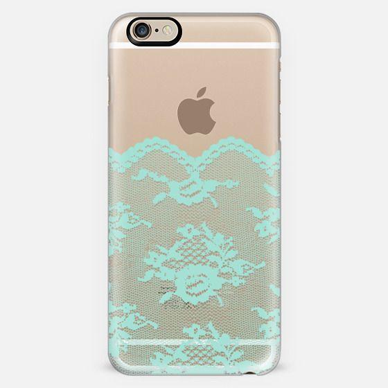 Mint Romantic Lace Transparent  -
