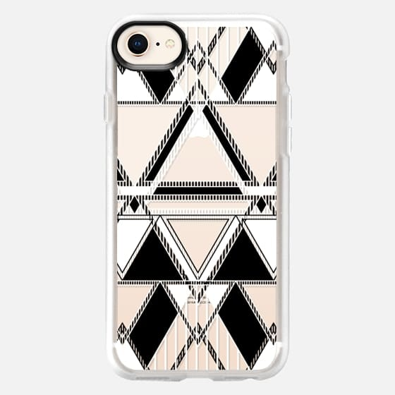 Black and White Linear Tribal  - Snap Case