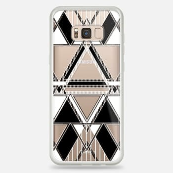 Samsung Galaxy S8+ Case Black and White Linear Tribal