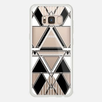 Samsung Galaxy S8 Case Black and White Linear Tribal