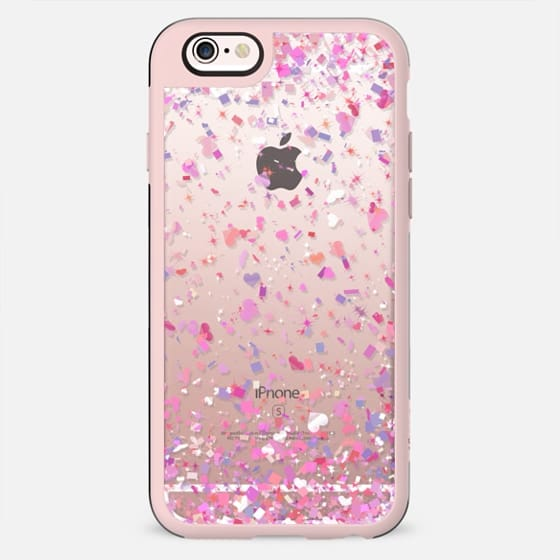 Love Confetti Explosion Transparent  - New Standard Case